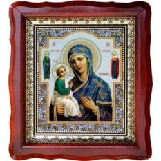 Иерусалимская икона Божией Матери на холсте