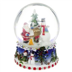 Музыкальная фигурка Новогодний шар. Дед мороз и снеговик
