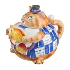Заварочный чайник «Кошка с рыбкой»