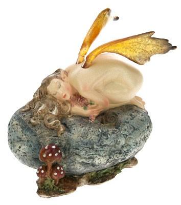 Декоративная фигурка Девушка-эльф, желтые крылья