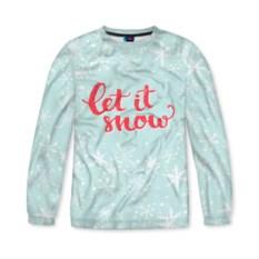 Женский свитшот 3D Let it snow