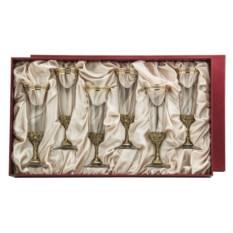 Набор из 6-ти бокалов для шампанского Богемия. Сеточка