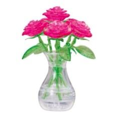 3D-головоломка «Розовый букет в вазе»
