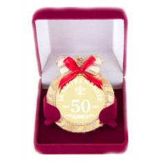 Медаль на цепочке За взятие юбилея 50 лет