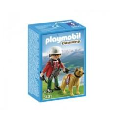 Конструктор Плеймобил «В горах: Спасатель с собакой»