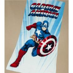Детское махровое полотенце 75х150 Капитан Америка
