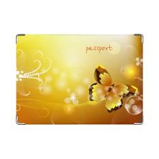 Обложка на паспорт Жёлтая бабочка