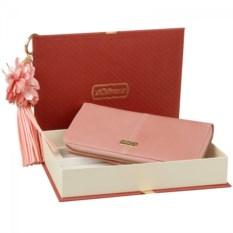 Подарочный набор из кошелька розового цвета и ручки