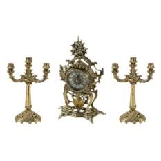 Часы каминные с канделябрами Sub Rosa