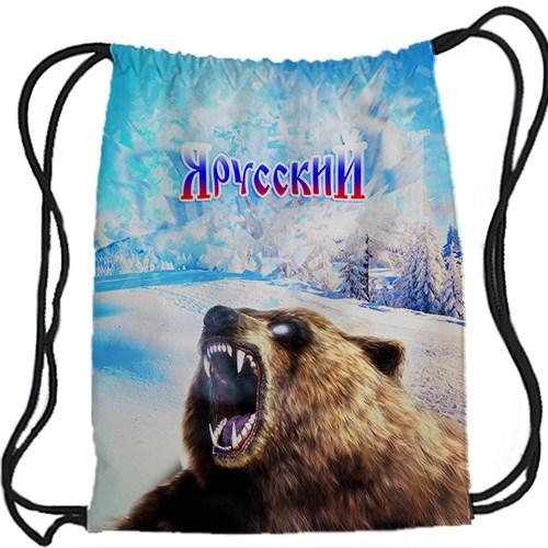 Рюкзак-мешок Я русский с медведем