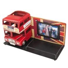 Фоторамка с подставкой для ручек Лондонский автобус