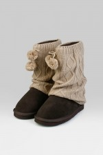 Гетры для обуви Ромбы, бежевые
