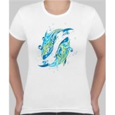 Женская футболка Две рыбки
