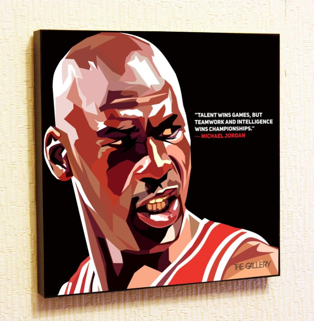 Картина в стиле поп-арт Майкл Джордан