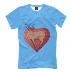 Голубая футболка Любовь