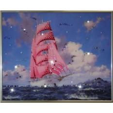 Картина с кристаллами Swarovski Алые паруса
