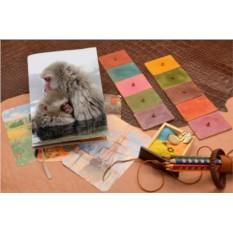 Кожаный белый ежедневник Обнимающиеся обезьянки