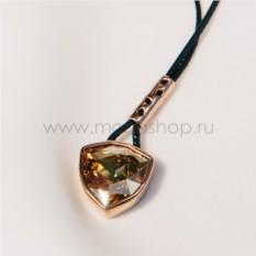 Кулон с кристаллом на шнурке «Бермудский треугольник»