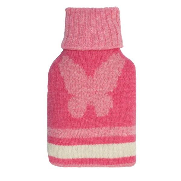 Мини-грелка для тела, вязаная, розовая