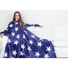 Синий со звездами плед с рукавами Sleepy Luxury