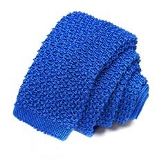 Сине-голубой однотонный вязаный галстук-носок Missoni