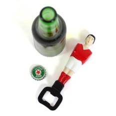 Красный открыватель для бутылок Football