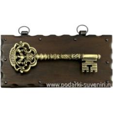Настенная ключница Золотой ключ с орлом