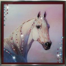 Картина с кристаллами Сваровски Белый конь