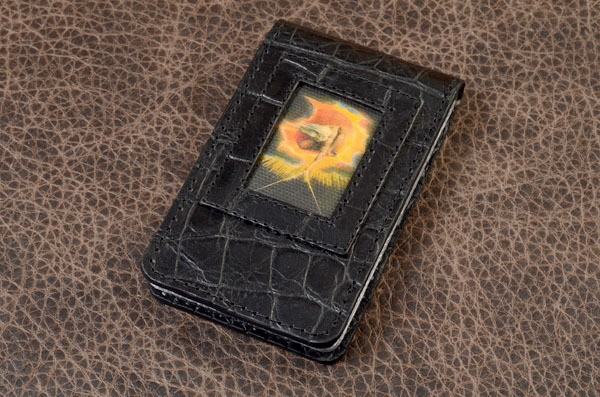 Визитница карманная из кожи Elole Design Art (черный)