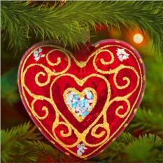 Елочная игрушка «Сердечко»