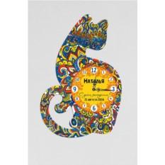 Настенные часы с вашим именем Кошка