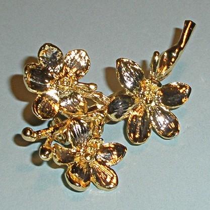 Винтажная брошь «Ветка орхидеи»