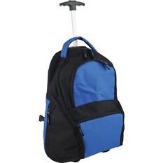 Синий рюкзак на колесиках
