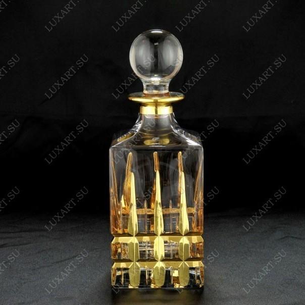 Подарочный хрустальный штоф для водки и виски