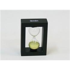 Оригинальные песочные часы на 3 минуты, желтый песок