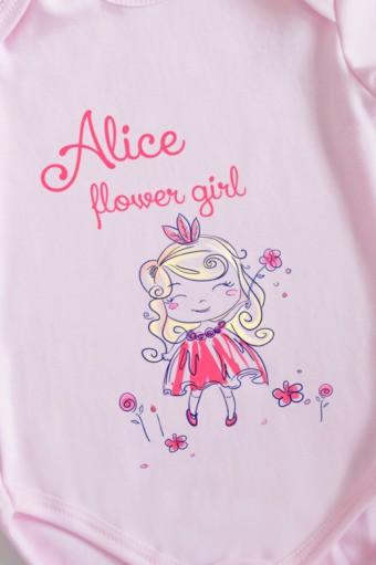 Боди для малыша с текстом Принцесса, розовое
