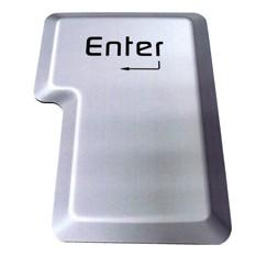 Коврик для компьютерной мышки в виде белой кнопки Enter