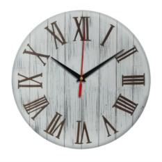 Серые ретро-часы с римскими цифрами Винтаж