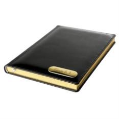 Недатированный кожаный ежедневник с золоченым срезом
