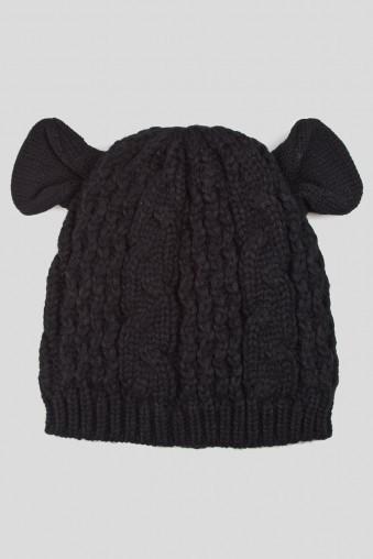 Шапка Милая овечка (черная)