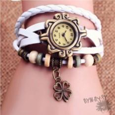 Кожаные часы-браслет Lucky Клевер