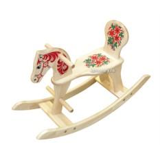 Качалка-лошадка с художественной росписью Хохлома