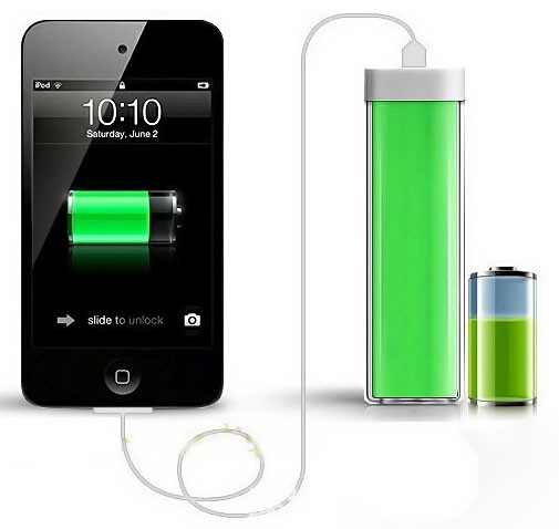 Портативное зарядное устройство Power Bank 2600 mAh зеленый