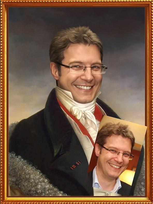 Оригинальный портрет строителю