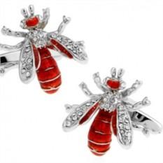 Запонки Пчела