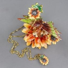 Шкатулка с украшением «Фея на цветке»