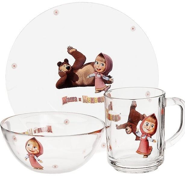 Набор посуды «Маша и Медведь» из 3 предметов