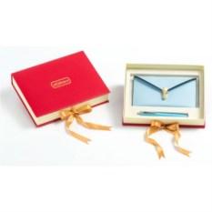 Подарочный набор: портмоне (экокожа), гелевая ручка