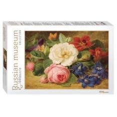 Пазл 1000 деталей Букет цветов с улиткой. Йозеф Лаунер