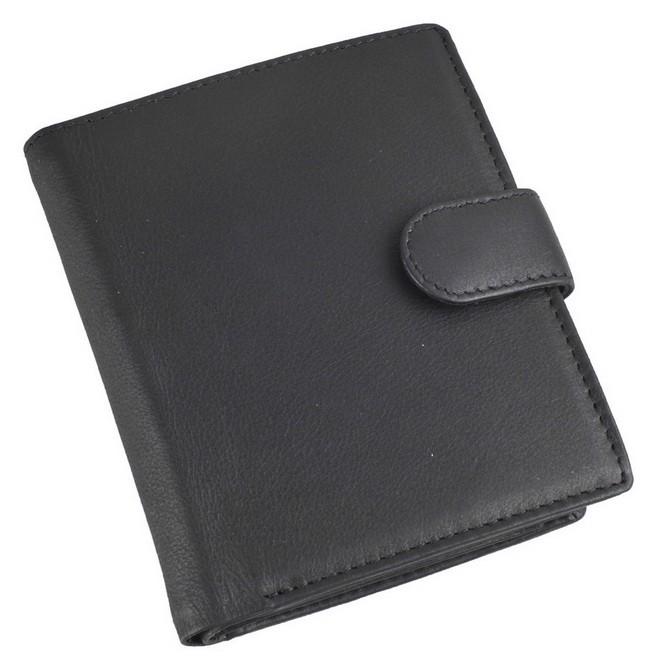 Кожаное портмоне с отделениями для кредитных карт, монет и документов